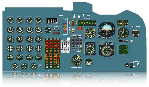 BAe 146 Cockpit Main Instrument Panel